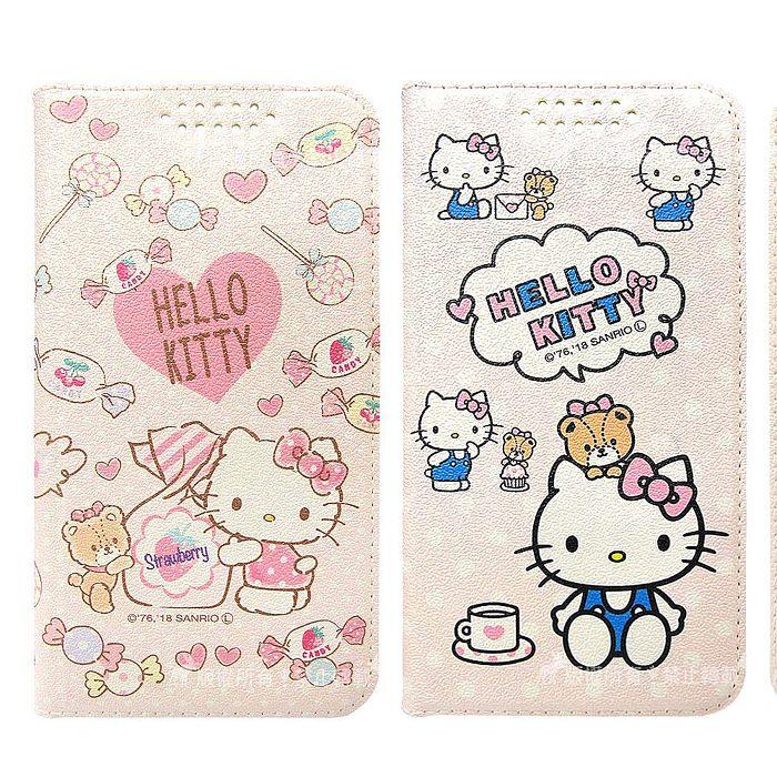 三麗鷗授權 Hello Kitty貓 三星 Samsung Galaxy S10 粉嫩系列彩繪磁力皮套(小熊/軟糖)