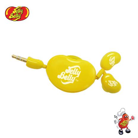 【JELLY BELLY 】雷根糖捲線器耳機 (黃)