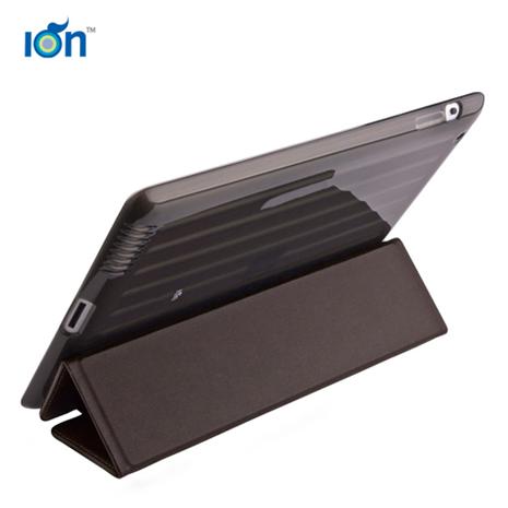 【ION】Carbonado Cover iPad2真皮透明保護套 (棕)