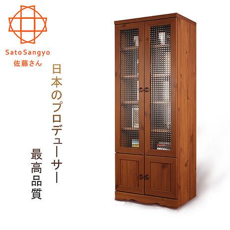 【Sato】PISTRO巴黎公寓四門玻璃高置物櫃‧幅60cm