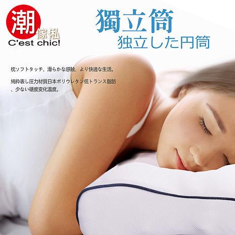 【Cest Chic】外銷日本獨立筒高低兩用枕