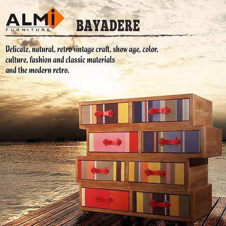 【ALMI】DOCKER BAYADERE- ASYMMETRIC 8 DRAWER 八抽櫃