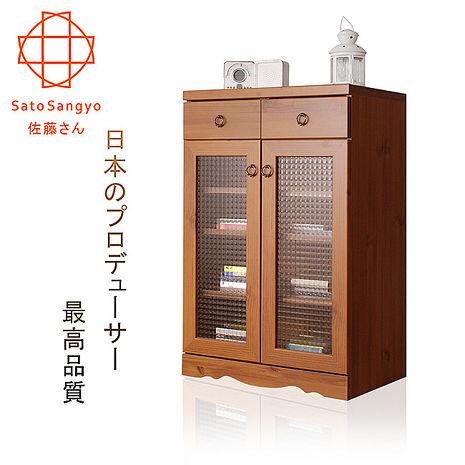 【Sato】PISTRO巴黎公寓二抽二門玻璃櫃‧幅59cm