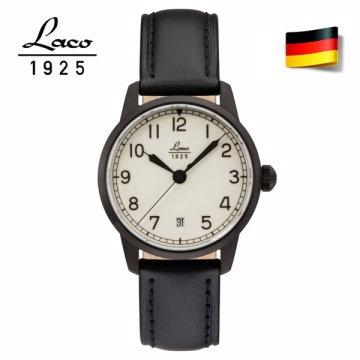 德國工藝 Laco 朗坤 夜光防水皮帶自動機械海洋軍錶861804