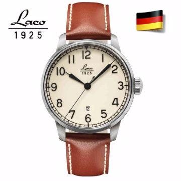德國工藝 Laco 朗坤夜光海洋機械錶-白/42MM 861651
