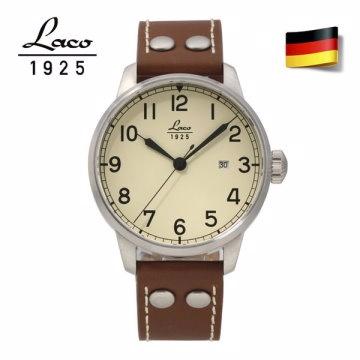 德國工藝 Laco 朗坤 德國海軍系列 背透自動機械表 男表 861611N
