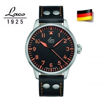 德國工藝 Laco Neapel 軍事風格機械錶 軍錶 男錶 861965
