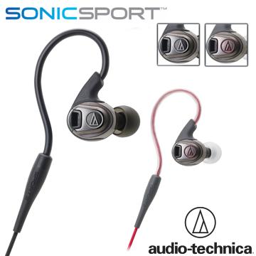 鐵三角 ATH-SPORT3 防水運動型專用耳塞式耳機黑色(BK)