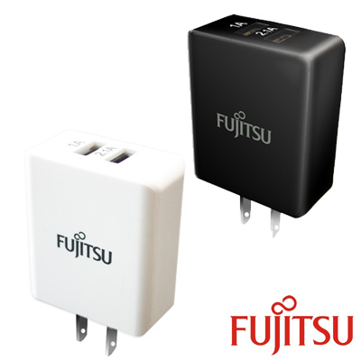 FUJITSU 富士通 US-02 USB雙埠電源供應器/充電器(5V/3.1A)
