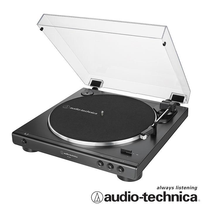鐵三角 AT-LP60X全自動播放型黑膠唱盤(黑色)
