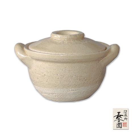 【日本長谷園伊賀燒】迷你小陶碗鍋 白