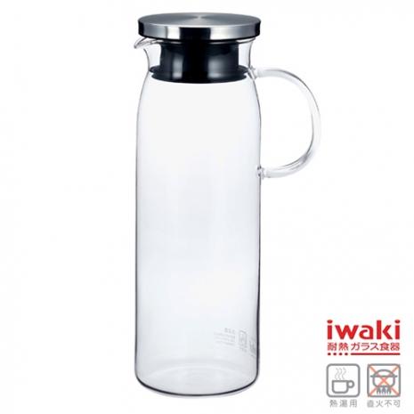 【iwaki】耐熱玻璃水壺 1L