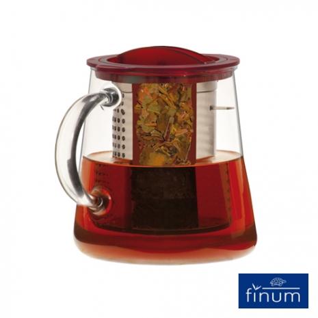 【Finum】玻璃泡茶控制壺800ml(紅)