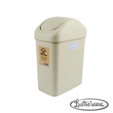 【Lustroware】日本進口搖蓋式垃圾桶6.5 L(象牙色)
