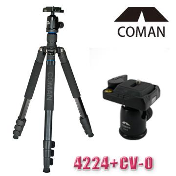 4224四節鎂鋁腳架+CV-0雲台(22mm)-漫遊者系列