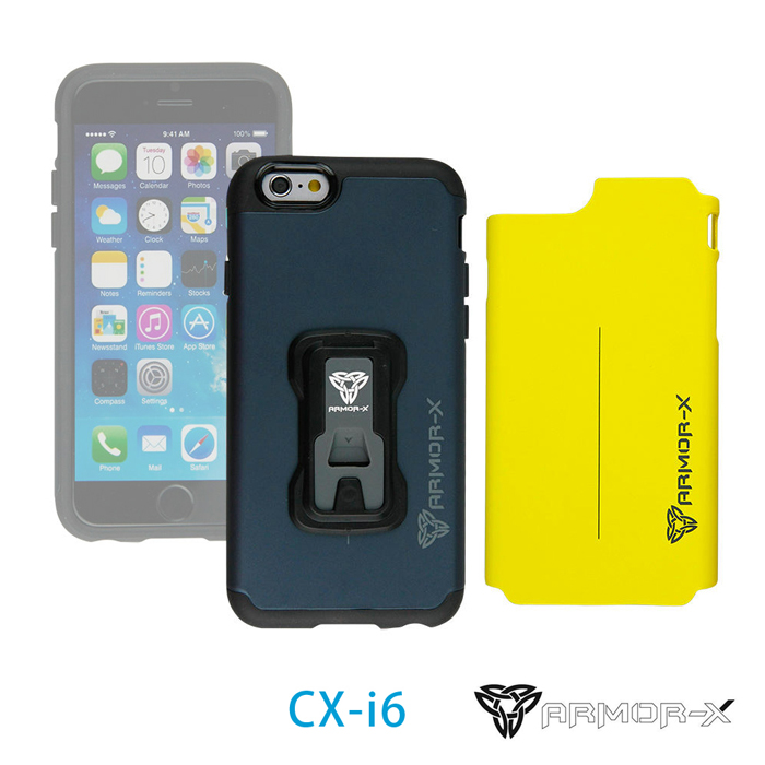 ARMOR-X CX-i6 堅硬防撞手機殼 for iPhone 6(附兩色背蓋)