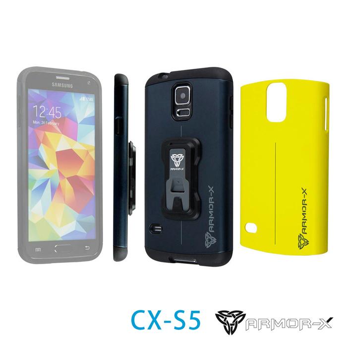 ARMOR-X CX-S5 堅硬防撞手機殼 for Samsung S5(附兩色背蓋)