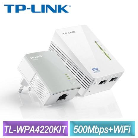 TP-LINK AV500 Wi-Fi電力線網路橋接器**雙包裝(TL-WPA4220KIT)