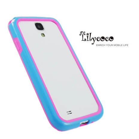 Lilycoco Samsung Galaxy S4 i9500 Bumper 時尚雙色邊框-藍粉