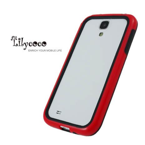 Lilycoco Samsung Galaxy S4 i9500 Bumper 時尚雙色邊框-紅黑