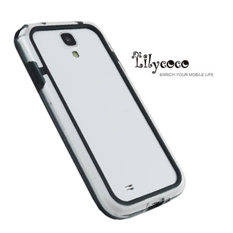 Lilycoco Samsung Galaxy S4 i9500 Bumper 時尚雙色邊框-透明黑