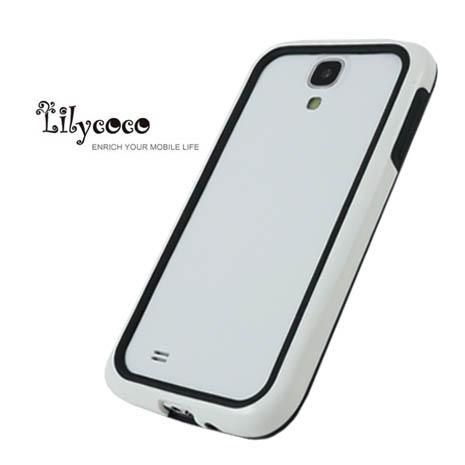 Lilycoco Samsung Galaxy S4 i9500 Bumper 時尚雙色邊框-白黑