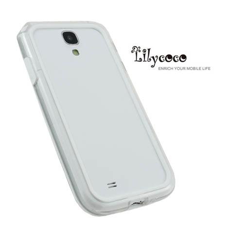 Lilycoco Samsung Galaxy S4 i9500 Bumper 時尚雙色邊框-透明白