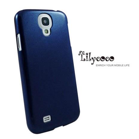 Lilycoco Samsung Galaxy S4 i9500 晶鑽亮面防刮保護殼-藍