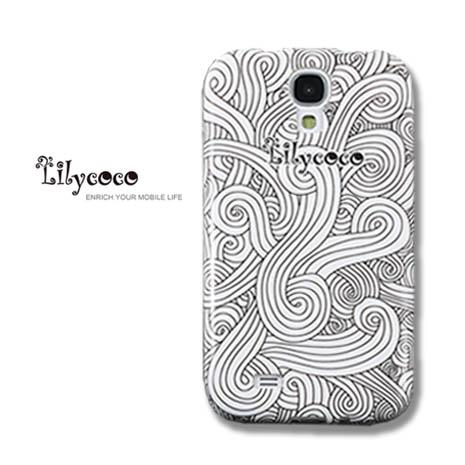 Lilycoco Samsung S4 i9500 設計家系列保護殼-白浪花