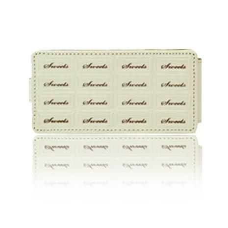 SINRA iPhone 5/5S 巧克力造型亮質皮套-乳白色