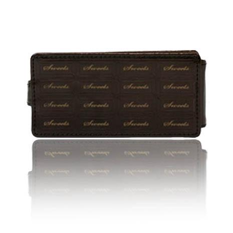 SINRA iPhone 5/5S 巧克力造型亮質皮套-巧克力色