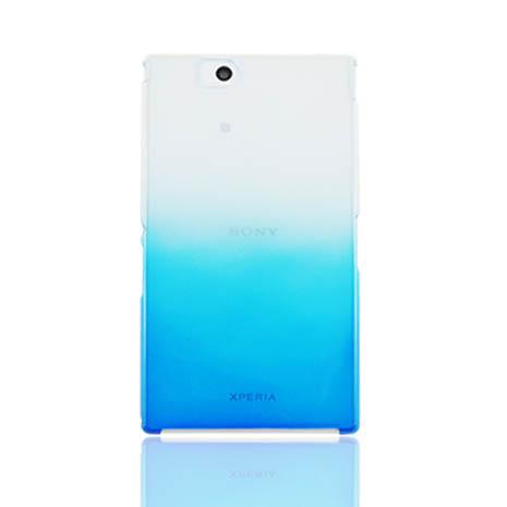 Lilycoco Sony Z Ultra 輕薄亮面防刮保護殼-漸層藍