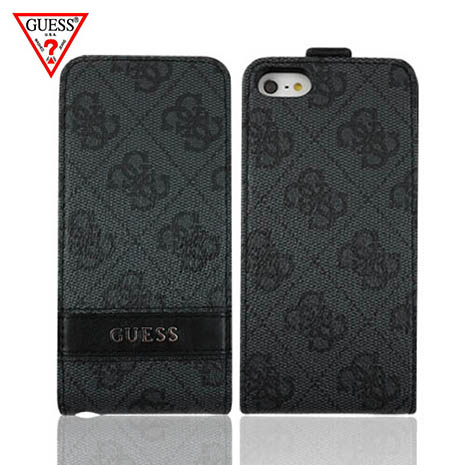 GUESS iPhone 5/5S 經典LOGO下掀皮套