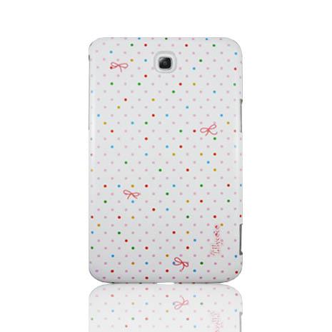 """Lilycoco Samsung Galaxy Tab3.0 7"""" 設計家系列保護殼-白點-手機平板配件-myfone購物"""