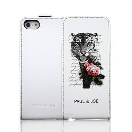 PAUL&JOE iPhone 5/5S 下掀式皮套-Tiger