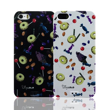 Lilycoco iPhone 5/5S 設計家系列保護殼-甜點系列甜甜圈黑