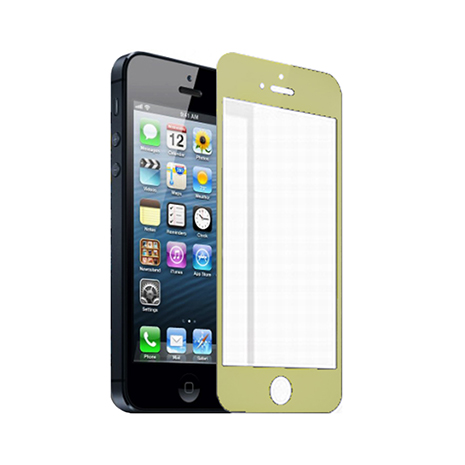 Lilycoco iPhone 5/5S/5C 超薄強化玻璃保護貼-香檳金