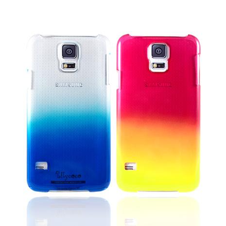 Lilycoco Samsung Galaxy S5 炫彩漸層 硬式超薄保護殼藍色
