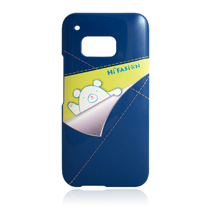 Hi Fasion HTC One M9 熊出沒-口袋發熊 立體壓紋 硬式超薄保護殼