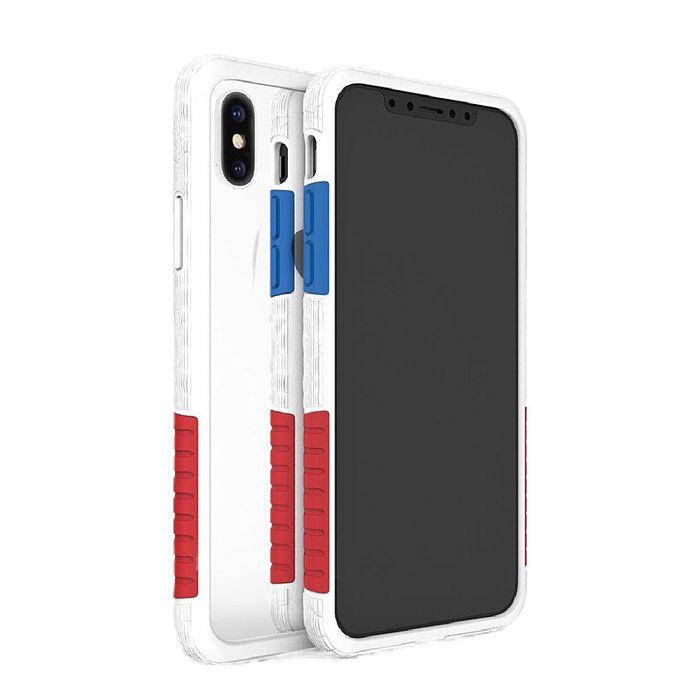 Telephant 太樂芬 【 iPhone XS Max 】6.5吋 NMDer 抗汙 防摔 撞色 邊框 手機殼 六色可選