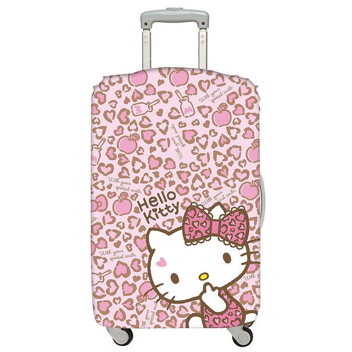 LOQI 行李箱外套│Hello Kitty 豹紋M號