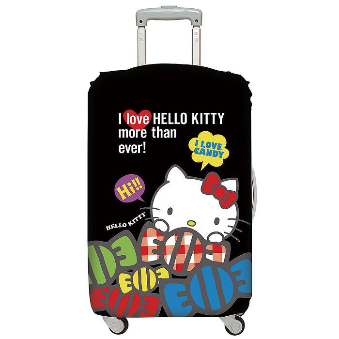 LOQI 行李箱外套│Hello Kitty 酷黑M號