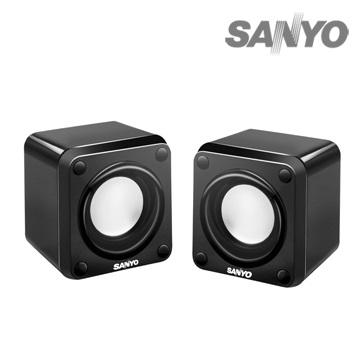 SANYO三洋2.0聲道USB方塊電腦喇叭
