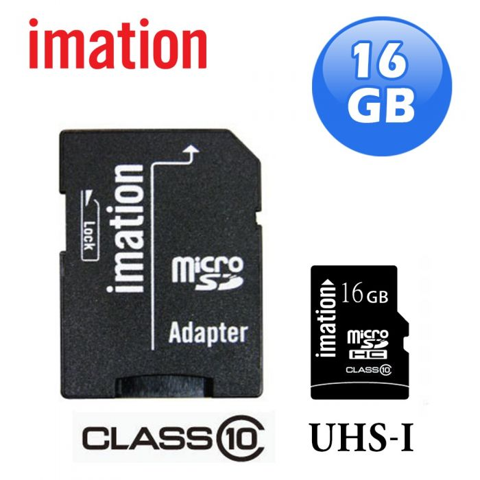 imation Class10 UHS-I Micro SDHC記憶卡(16GB)【附轉卡】
