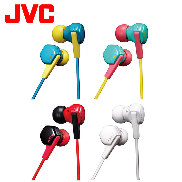 JVC 繽紛糖果運動耳掛/入耳兩用耳機 HA-FX17