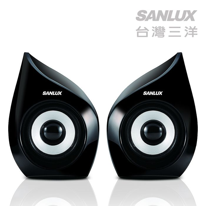 SANLUX台灣三洋 2.0聲道USB多媒體電腦喇叭 SYSP-235