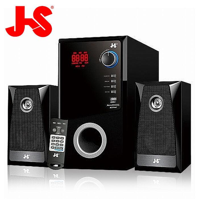 JS 淇譽電子 水瓶座 2.1聲道木質三件式FM音響/藍芽喇叭JY3302