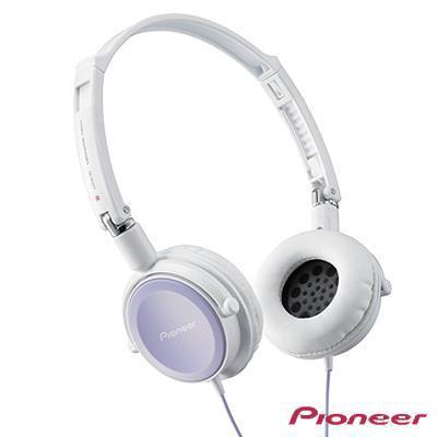 Pioneer 折疊薄型全密閉耳罩式耳機 SE-MJ511-V (粉紫色)