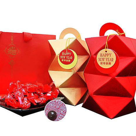 活動品【瘋神邦】金雞報喜開運籤詩巧克力球禮盒(150g/盒-金x1盒+紅x1盒)myfone獨享加贈好運籤詩巧可力球x1