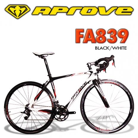 APROVE FA839 專業級Rival碳纖維公路自行車(黑白) 50cm